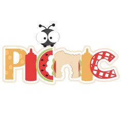 Picnic Scrapbook Title SVG cutting file ant svg cut file summer svg cuts summer scal files for cricut free cut files Picnic Theme, Picnic Birthday, Scrapbook Titles, Scrapbook Paper, Picnic Quotes, Crown Template, Cute Clipart, Cute Images, Silhouette Design