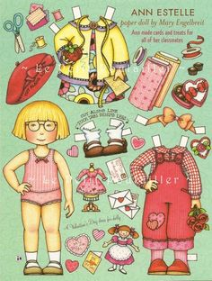Mary Engelbreit Home Companion Valentines Day Paper Doll, Ann Estelle