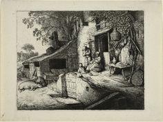 Adriaen van Ostade Dutch, 1610-1684  Woman Spinning, 1652  Etching on paper