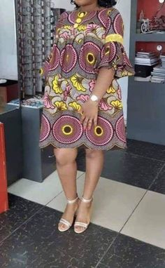 Here are some lovely ankara designs that suit your outing and any other event. Short African Dresses, African Blouses, Latest African Fashion Dresses, African Print Dresses, African Print Fashion, Africa Fashion, Ankara Fashion, African Prints, African Fabric
