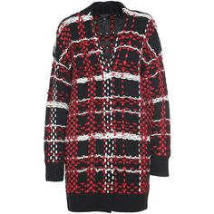 Rag & Bone Dawson Plaid-Embellishment Wool-Blend Coat ($905) ❤ liked on Polyvore featuring outerwear, coats, rosso, wool blend coat, plaid coat, tartan coat, embellished coat and long sleeve coat