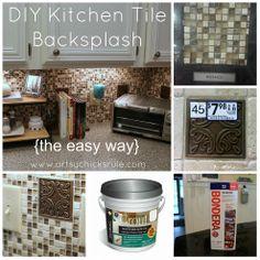 DIY Kitchen Back Splash {The Easy Way} :: Hometalk