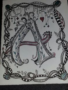 First Zenspirations monogram. Inspired by Joanne Fink