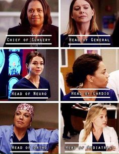 Grey's Anatomy women . . . All strong, powerful, and beautiful!