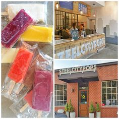 colorful all-natural popsicles at Steel City Pops in their Homewood, AL store