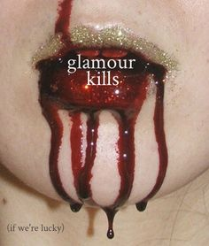 Bloody lips with glitter Be a vampire for Halloween? Cosplay Make-up, Horror Make-up, The Wicked The Divine, The Embrace, Red Queen, Lip Art, All That Glitters, Up Girl, Steam Punk