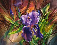flores pintadas con espatula - Buscar con Google