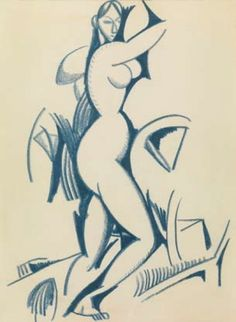 Estudo de nu feminino , c. 1912 Amadeo de Souza-Cardoso Fauvism, Modern Times, Gustav Klimt, Lisbon, Figurative Art, Great Artists, Nudes, Portugal, Sculptures