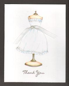 Cute! Bridal Shower Thank You Cards Original Artwork by Sara Jane
