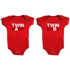 Baby onesies for twins by snug attack!