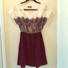 Black & White Lace Detail Dress
