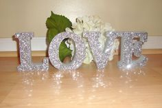 Self+Standing+Glitter+Table+Letters+Wood+Wooden+by+bbmnky06,+$8.50