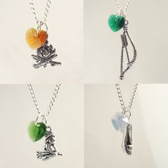 Once Upon A Time Character Necklaces: Neal/Baelfire, Robin Hood, Wicked Witch, Cinderella by KDDezsigns