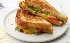 Smoked Gouda and Roasted Red Pepper Grilled Cheese by Food Network Kitchens (Cheese, Rocket) @FoodNetwork_UK