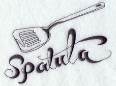 Spatula Embroidered Flour Sack Hand/Dish by EmbroideryEverywhere, $12.99