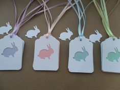 Adorable easter/spring bunny gift tag set. Easter decorations. Easter party favor gift tags.