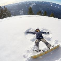"""Thinking of all the angels in the sky Im pretty sure they wear snowboards... "" - @melissa_marquardt #GoProSnow #GoProGirl"
