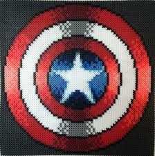 Bilderesultat for hama beads captain america