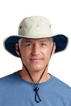 @Coolibar Sun Protection You Wear UPF 50+ Men's Lined Shapeable Wide Brim Hat now $19.99 #sale #hats