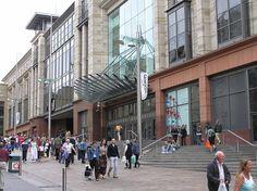 The exterior of the Buchanan Galleries shopping centre on Buchanan Street, Glasgow, Scotland.