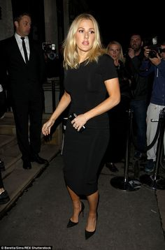 Refreshing: Ellie Goulding cut a classy figure when she attended Victoria Beckham's LFW party on Tuesday