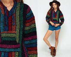Drug Rug Hoodie Jacket RAINBOW Mexican Sweatshirt by ShopExile