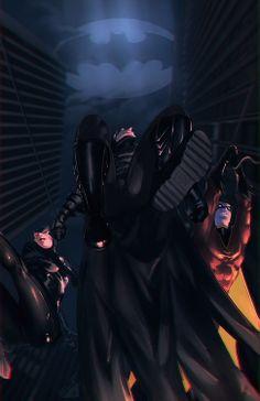 Batman, Catwoman & Robin by Memed