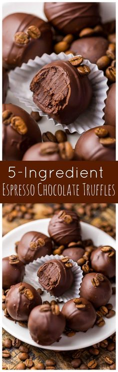 Rich creamy and caffeinated these Espresso Chocolate Truffles are a coffee lovers dream come true! Bonus: they're so easy! Rich creamy and caffeinated these Espresso Chocolate Truffles are a coffee lovers dream come true! Bonus: they're so easy! Candy Recipes, Sweet Recipes, Holiday Recipes, Cookie Recipes, Dessert Recipes, Frosting Recipes, Christmas Recipes, Just Desserts, Delicious Desserts