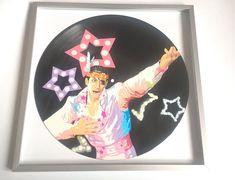 Ryu ga Gotoku Yakuza MAJIMA 24-HOUR CINDERELLA painted on Vinyl Record #Yakuza #Yakuza0 #Majima