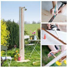 creer une douche exterieur pour le jardin