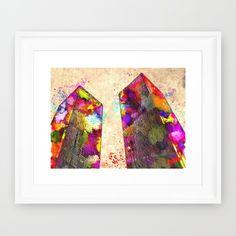 Twin+Towers+Watercolor+Grunge+Framed+Art+Print+by+Daniel+Janda+-+$40.00