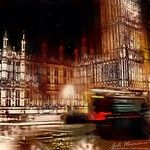 Night Sketches of the Houses of Parliament, London