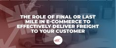 Last mile in e-commerce delivery represents one of the greatest opportunities for risk and poor customer out in the modern supply chain. Last Mile, Supply Chain, Ecommerce, Delivery, Modern, Trendy Tree, E Commerce