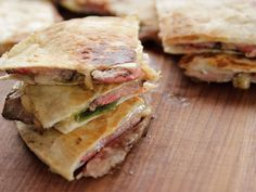 Rib-Eye Quesadillas recipe from Ree Drummond via Food Network