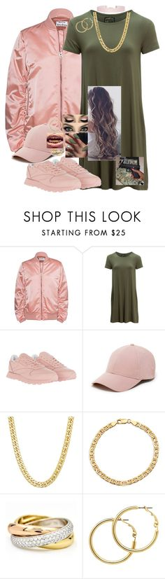 """""""60 second Trap Queen"""" by aiden171049 ❤ liked on Polyvore featuring Acne Studios, United by Blue, Reebok, Sole Society, Cartier, Melissa Odabash, Humble Chic, tshirtdresses and 60secondstyle"""
