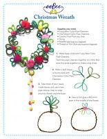 The Wreath Blog: Pipe Cleaner Christmas Wreath at EeBoo Studio