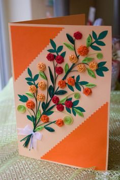 quilled paper card