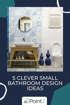 Small bathrooms are becoming more and more common as we fit our lives into smaller homes. Even if you have a larger home, small powder rooms can still pose a dilemma. Here are our five best design ideas to make your small bathroom feel bigger, brighter and more functional. Traditional Cabinets, Traditional Bathroom, Home Design Decor, House Design, Design Ideas, Large Homes, Smaller Homes, Bathroom Design Small, Small Bathrooms