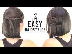 EASY HAIRSTYLES FOR SHORT HAIR - neat ideas for short hair :-)