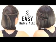 EASY HAIRSTYLES FOR SHORT HAIR - neat ideas for short hair :-)