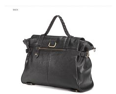 Alexa British leather bag with flap and shoulder strap by DUDU - Dudubags