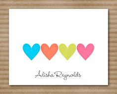 Heart Stationery / Stationary / Note Cards / by PaperHouseDesigns, $12.00