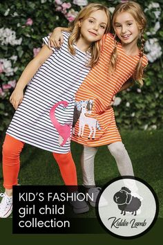 Gender: Girls Decoration: Pattern Collar: Crew Neck Sleeve Style: Regular Material: Cotton Dresses Length: Knee-Length Pattern Type: Print Fit: Fits true to size, take your normal size Silhouette: A-Line Trendy Kids, Cute Tshirts, Striped Shorts, Mom And Dad, Cotton Dresses, Best Sellers, Sleeve Styles, Lamb, Kids Fashion