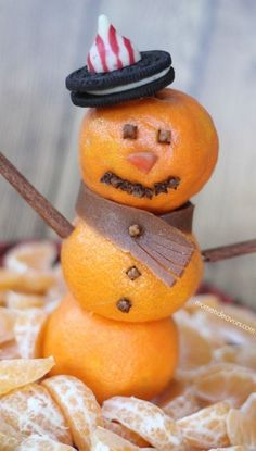 Orange Snowman | #christmas #holiday #xmas #christmasinjuly #summer #beach #holidaytreats