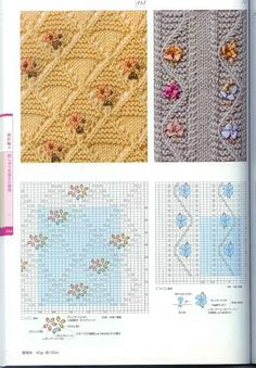 #Embroidered #Knitting - hundreds of beautiful #knit & #crochet #stitches at this site.