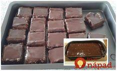 Výborný koláčik, ktorý milujú hlavne moje deti. Je veľmi jednoduchý a chutný, určite si nájde fanúšikov aj medzi dospelákmi. Potrebujeme: 5 vajec 1 hrnček granka 1 hrnček cukru 1 hrnček oleja 1 hrnček polohrubej múky 1 kypriaci prášok Ďalej: Kakao, džem 250 g šľahačky 200 g čokolády na varenie Postup: Všetky prísady zmiešame v jednej... Sweet Desserts, Tiramisu, Sweet Tooth, Muffins, Food And Drink, Candy, Drinks, Cooking, Breakfast