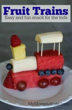 Train Birthday    Thomas    Chuggington    train fruit food