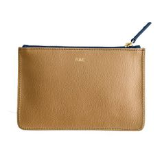 Piazza Zip Pouch | Mark and Graham navy & tan