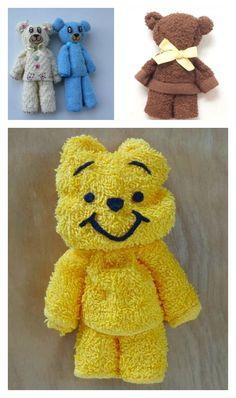 Towel Teddy Bear Tutorial