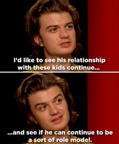 Steve Harrington: reformed idiot and doting mother.